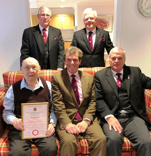 Pictured from left to right seated, are: Bert Ross, Mike Threlfall and John Selley. Standing Geoffrey Porter and Chris Reeman.
