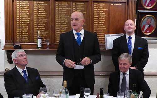 Graham responds to the toast to his health.