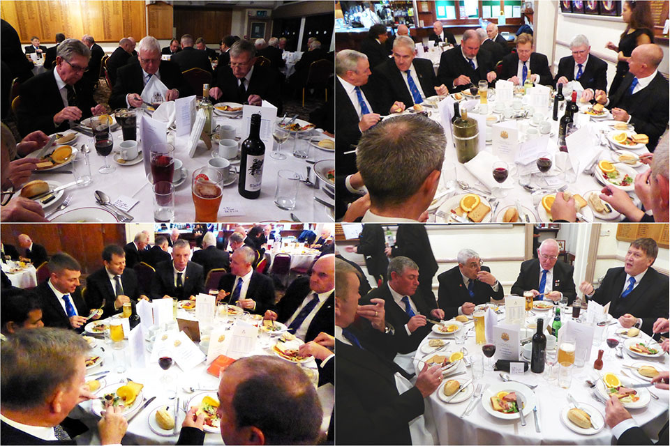 Diners at the festive banquet.
