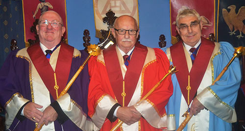 Pictured from left to right, are the three principals: Stephen Cornwell, John Leisk, Fred Hulse.
