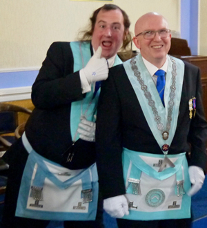 Kevin Croft (left) and Colin Rogers in a jovial mood