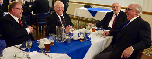 Pictured from left to right are Chris Walpole, Bill Snell, Jack Monks and Colin Goodwin enjoying the festive board