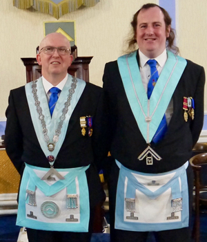Colin Rogers WM (left) and Kevin Croft IPM