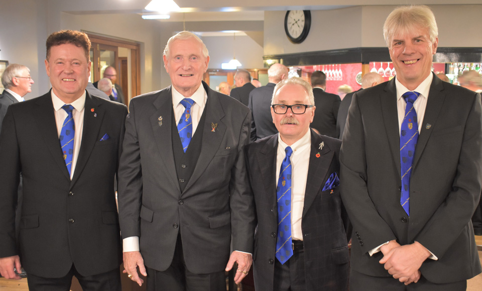 Pictured from left to right, are; group chairman Peter Schofield, David Dryden, Tony Cassells and Ian Thompson