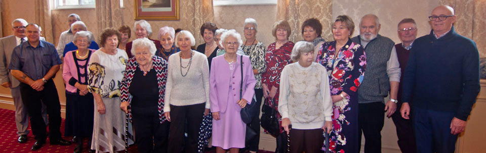 Leigh Group Almoners with some of the group's widows.