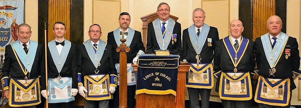 Ready for the installation, pictured from left to right, are; Dave Jones, Chris Mullen, Ian Thompson, Ray Sephton, Ian Niven, Dave Waddington, Paul Rattigan and Steve Kayne.