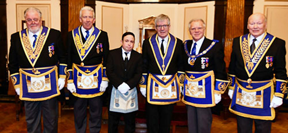Pictured from left to right, are: Roy Pyne, Mark Matthews, Ramon Mace, John Mace, Derek Parkinson and Laurie Scott.