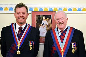 David Kemp (left) and John Roberts.