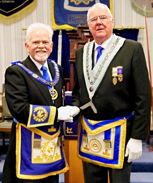 David Randerson (left) congratulates John Whitley