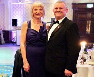 Sequins and black ties at the Peace and Unity gala ball