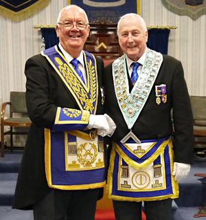 Ted Rhodes (left) congratulates David Platt WM