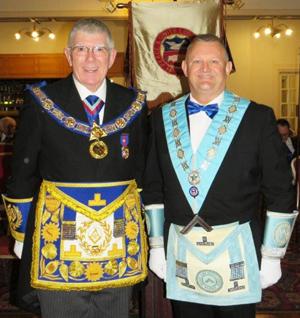 Tony Harrison (left) and Paul Cummings WM
