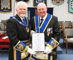 Ray celebrates 50 years in Freemasonry