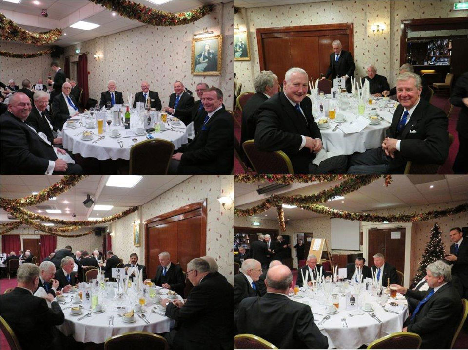 Pictured are brethren enjoying the evening's festivities.
