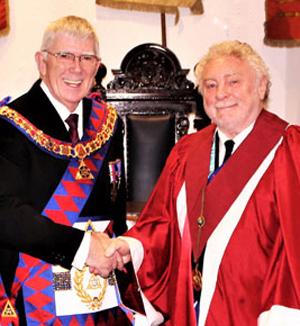 Tony (left) congratulates Wallace.