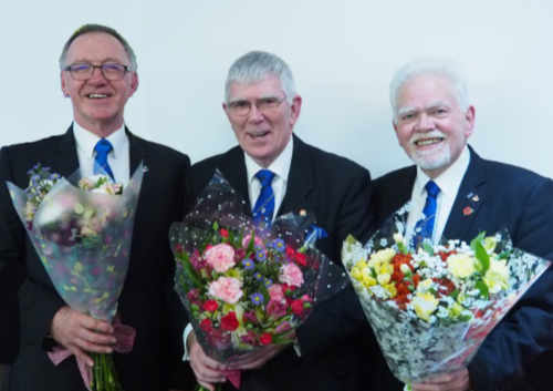 Pictured, from left to right, are: John Robbie Porter, Tony Harrison and David Randerson