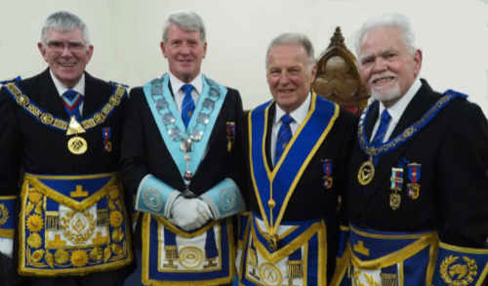 Pictured, from left to right, are: Tony Harrison, John Wright, Geoff Fogden, David Randerson.