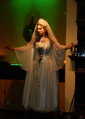 The Ghost 'Grey Lady' who was also the host for the evening.