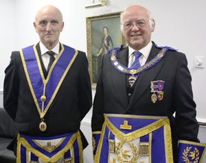 David Ogden (right) with celebrant Bill Cass