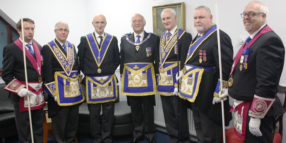Pictured from left to right, are: Phil Barr, Geoffrey Porter, Bill Sass, David Ogden, Stanley Oldfield, Gary Smith and Ian Green.
