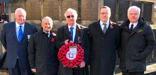Pictured from left to right, are: Ernie Barrow, Derek Todd, Derek Ishmael, Peter Wogan and James Wheeldon