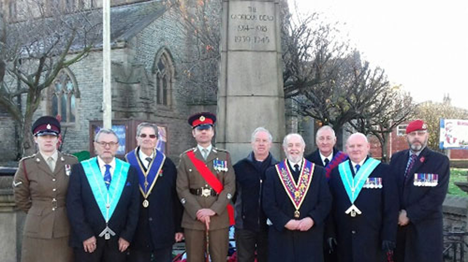 Pictured from left to right, either side of the Company Sergeant Major, are: Lisa Alexander, Keith Woodhall, Stan Fairhurst, Brian McMullen, Ray Pye, Eric Bailey, Peter Newell and Chris Alexander.