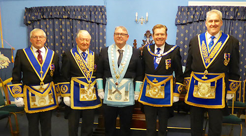 Pictured from left to right, are: Mike Cunliffe, Howard Jones, Peter Ryan, Kevin Poynton and Andrew Whittle.
