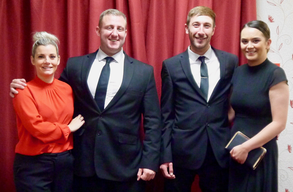 Pictured from left to right are; Rachael Watson, Kirk Elliot, Benjamin Beckett and Bethan Davies