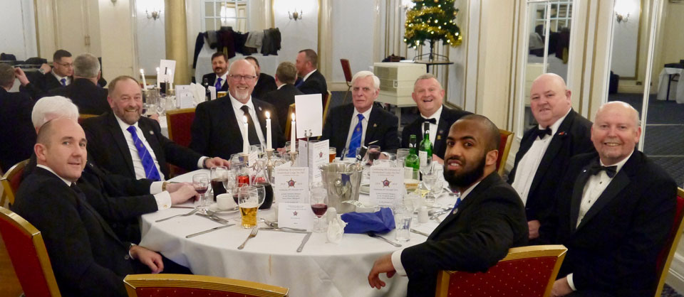 Members and guests enjoying the festive board.