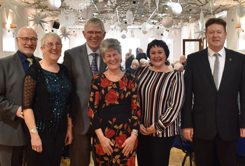 Pictured from left to right, are: David and Mary Smith, Tony and Maureen Harrison, Michelle and Peter Schofield.