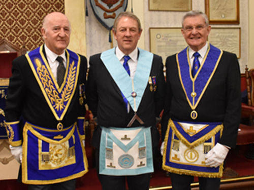 Pictured from left to right, are: Rowly Saunders, Thomas Irving and Jim Richards.