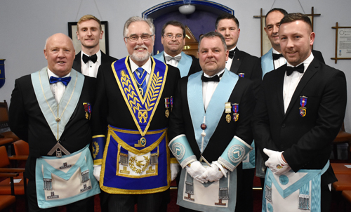 Pictured from left to right, front row are: Alan Telford, Phil Gardner, Barry Sanders and Craig Lennette, Rear row: Tom Anderson, Alex Lowe, Andy Hull and Ian Curwen.