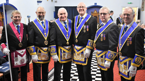 Pictured from left to right, are: David Ingham, Terry Ridal, Richard Wilcock, Gary Rogerson, Phil Preston and Alan Hilton.