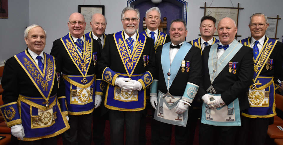 Pictured from left to right, are: Alan Jones, David Grainger, Rowly Saunders, Phil Gardner, Barrie Crossley, Barry Saunders, Peter Schofield, Alan Telford and Chris Band.