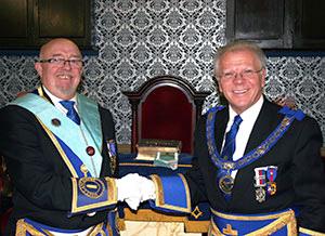 Barry Tomlinson (left) and Derek Parkinson.