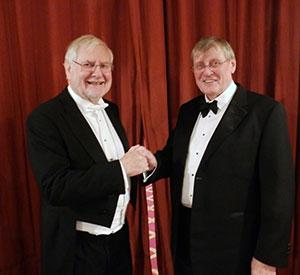Michael Collins (left) and Geoff Antrobus