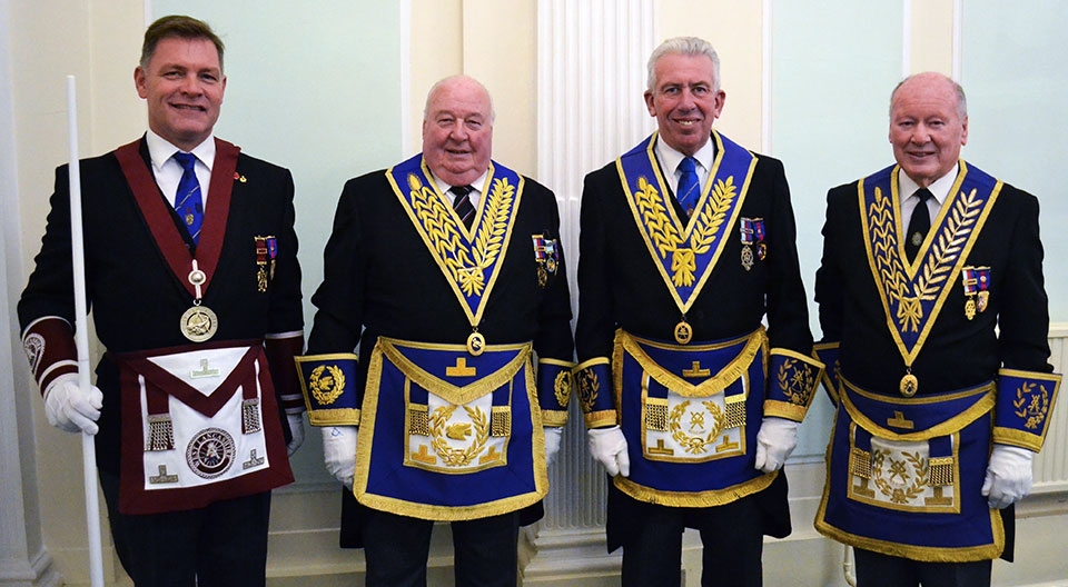 Pictured from left to right, are: Chris Taylor, Peter Levick, Mark Matthews and Laurie Scott.