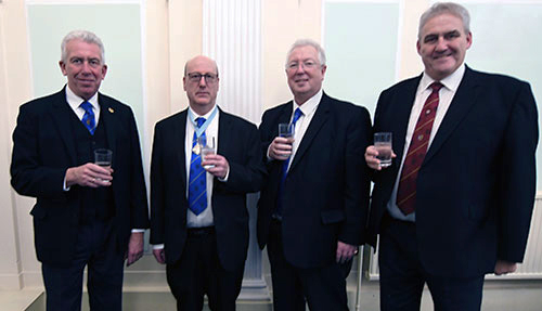 The three chairmen with the WM, pictured from left to right, are: Mark Matthews, Graham Robinson, John Murphy and Andrew Whittle.