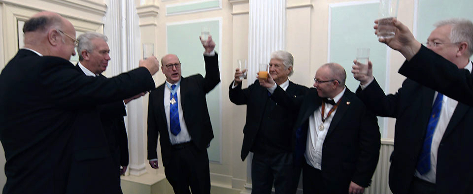 Graham Robinson acknowledges his toast.