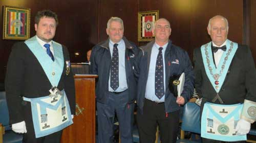 Pictured from left to right, are: Adam Simpson, Dave Eccles, Tony Cowell and Barrie Whiteside.