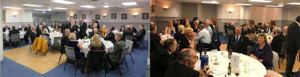 The brethren and guests at the festive board.