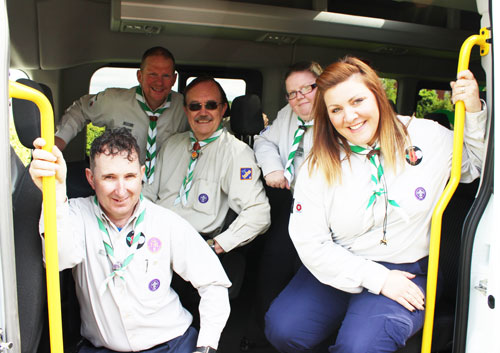 The girls and boys of the 5th Blackpool Scout Group were delighted with the replacement minibus.