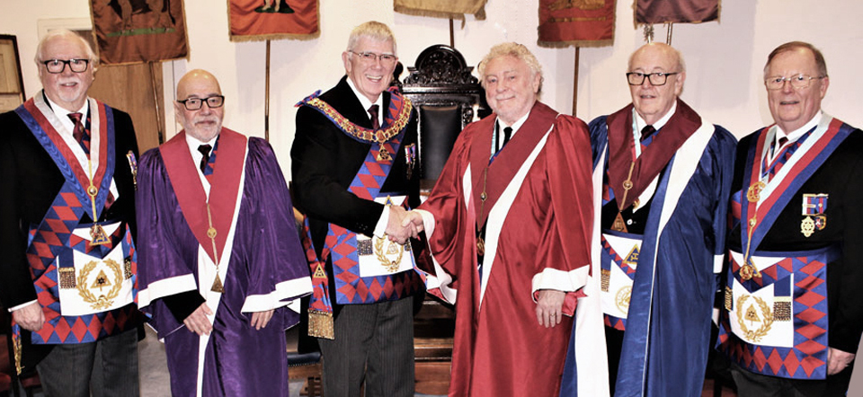 At Architect Chapter. Pictured from left to right, are: Mike Adams, Malcolm Jacobs, Tony Harrison, Wallace Fraser, Chris Knowles and Colin Rowling.