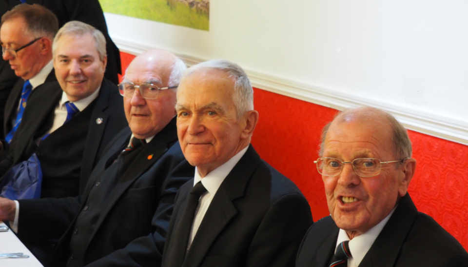 Pictured, from left to right, are: John Robbie Porter, Stephen Bolton, Ray Boardman, Tony Riley and John Nicholson.
