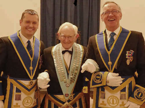 Pictured from left to right, are: John Lee, Tom Fare and John Robbie Porter.