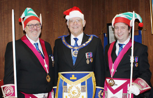 In the festive spirit. Pictured from left to right, are: Ian Green, David Ogden and Phil Barr.