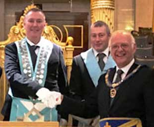 Light blues visit to Grand Lodge