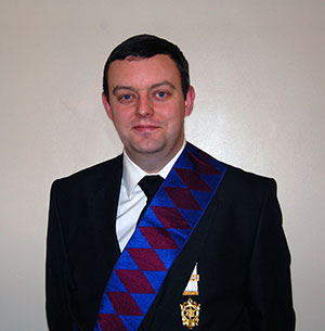 Newly exalted companion Christopher Rutter.
