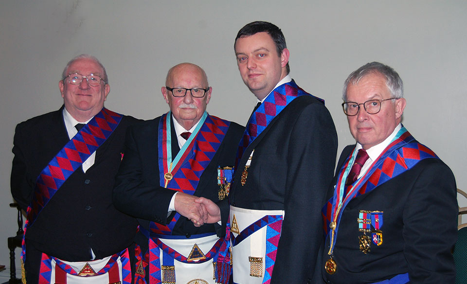 Pictured from left to right, are: Stephen Cornwell, John Leisk, Christopher Rutter and Mike Cunliffe.