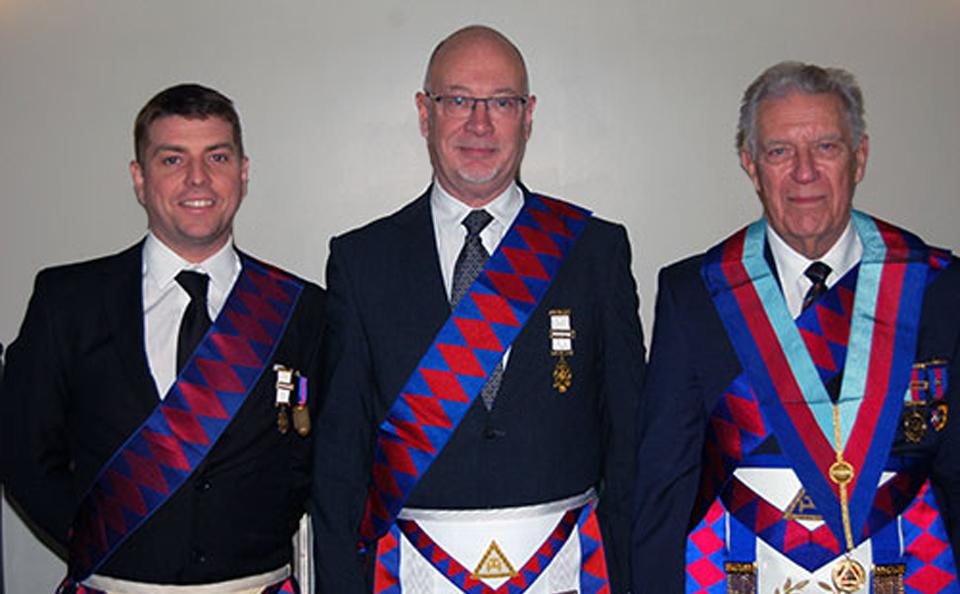 Pictured from left to right, are: Keith Lindsey, Robert McParland and John Lee.